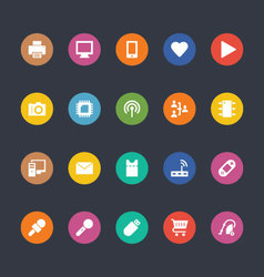 Glyphs Colored Icons 1 vector image vector image