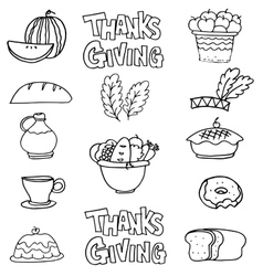 Hand draw thanksgiving stock on doodles vector