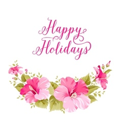 Happy holiday invitation vector image vector image