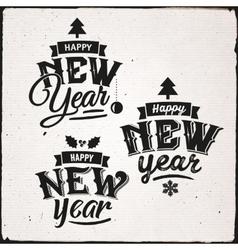 Happy New Year Set Of Typographic Design vector image