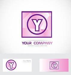 Letter y purple logo vector