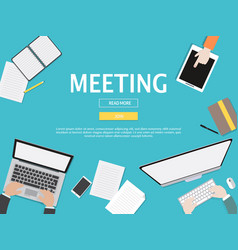 meeting graphic for business concept vector image