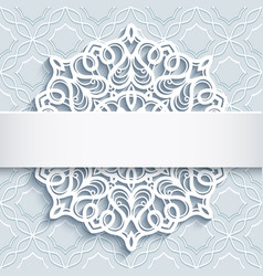 ornamental background with cutout paper doily vector image vector image