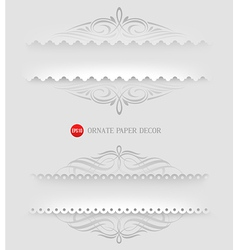 Ornamental decorative paper frames vector image vector image