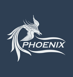Phoenix logo icon design vector