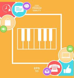 piano keyboard icon vector image vector image