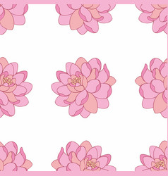 Pink flowers seamless pattern vector