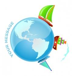 sailing world vector image vector image