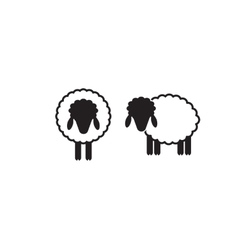 Sheep Icon Isolated vector image