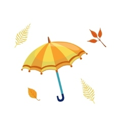 Umbrella As Autumn Attribute vector image vector image