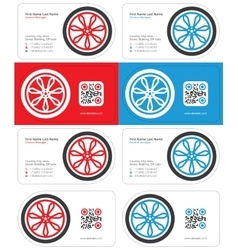 wheel business card 1 vector image