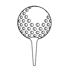 Ball golf sport equipment vector