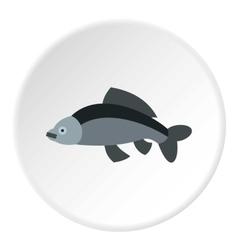 Carp icon flat style vector