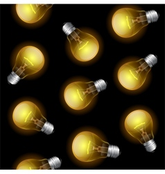 Light bulb seamless pattern vector