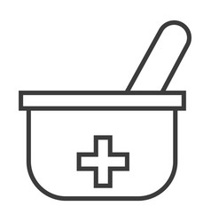 Pestle and mortar vector
