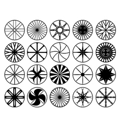 Wheel rims vector