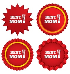 Best mom ever sign icon award symbol vector