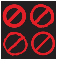 Prohibition red sign vector