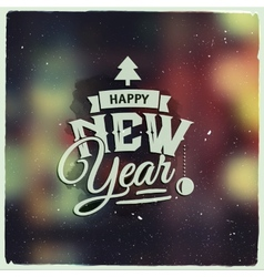 Happy new year creative graphic message for winter vector