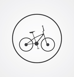Bike outline symbol dark on white background logo vector