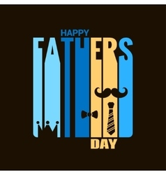 Fathers day holiday design background vector