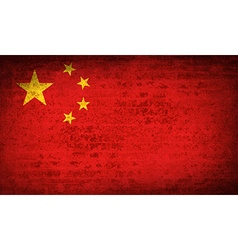 Flags china with dirty paper texture vector