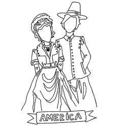National costume for america vector