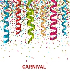 Carnival background with set colorful paper vector