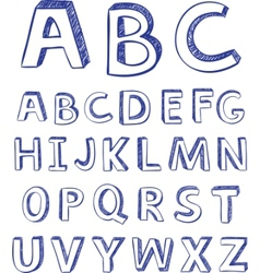 hand drawing alphabet for design vector image