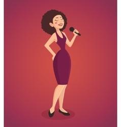 Singer woman vector