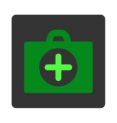 First aid flat button vector