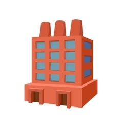 Factory building cartoon icon vector