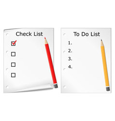 Checklist and todo list vector