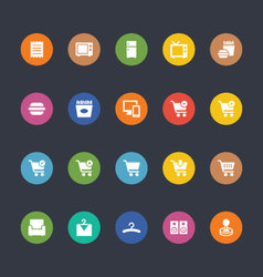 Glyphs Colored Icons 2 vector image