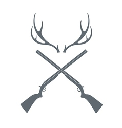Deer hunt icon vector