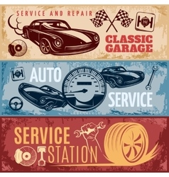 Car repair banner set vector