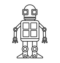Android robot icon outline style vector