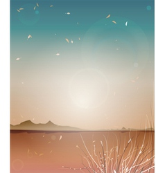 Autumn Landscape Background vector image