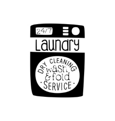 Black And White Sign For The Laundry And Dry vector image vector image