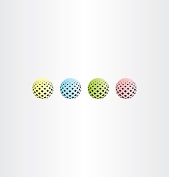 colorful ball circle with square halftone vector image vector image
