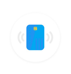 Contactless credit card icon vector