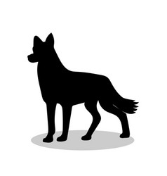 Dog pet black silhouette animal vector