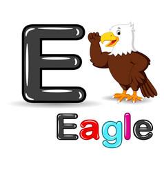 Eagle and alphabet cartoon vector