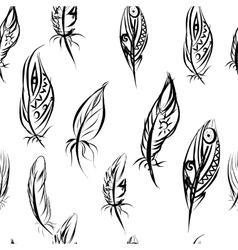 Ethnic seamless pattern with Feathers Ethnic vector image