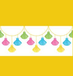 Fun colorful decorative tassels set vector