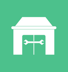 Icon service station vector