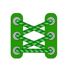 laces in dark green design vector image vector image