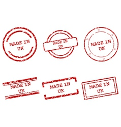 Made in UK stamps vector image vector image