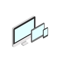 Monitor tablet and smartphone icon vector image