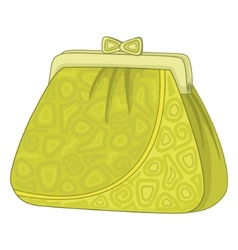 purse with patterns vector image